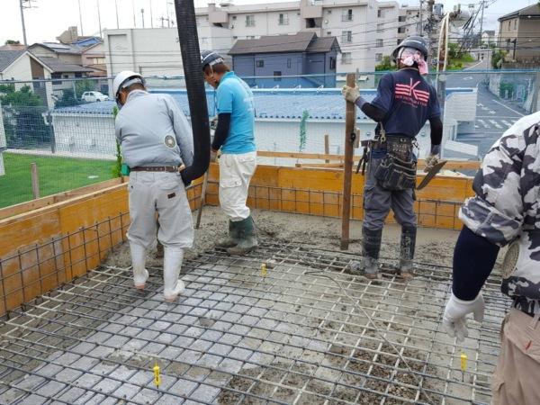近藤建築・Kホーム 東海市 コンクリート打設 イメージ