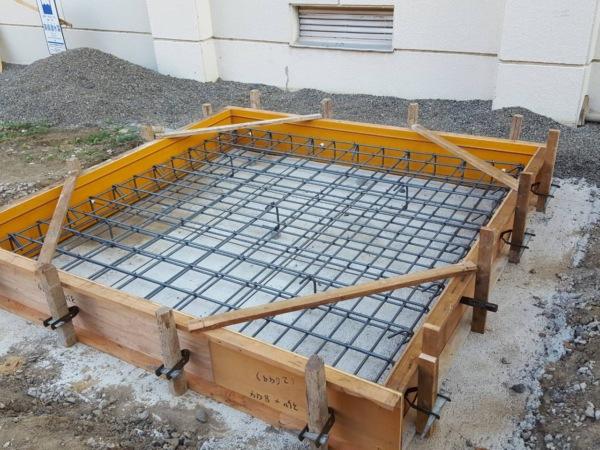 近藤建築・Kホーム 小学校機械台型枠工事 イメージ