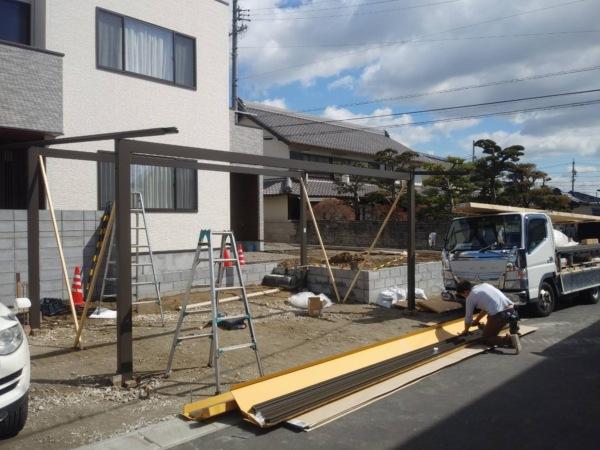 近藤建築・Kホーム 岐南町 I様邸 外構工事 イメージ