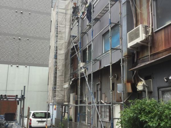 近藤建築・Kホーム 岐阜市Y様邸 足場組立工事 イメージ